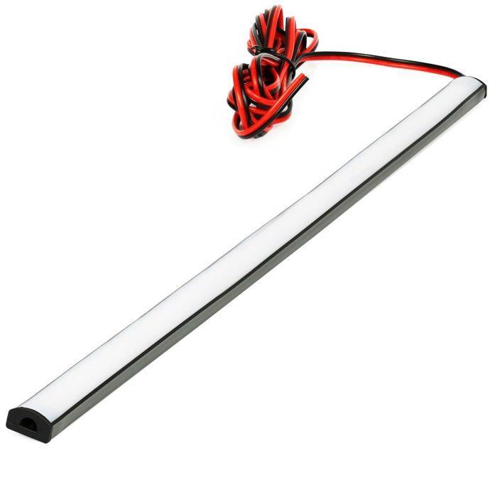 LED21 SADA 12V elastický gumový profil s LED páskem SMD2835 Studená bílá, 50cm
